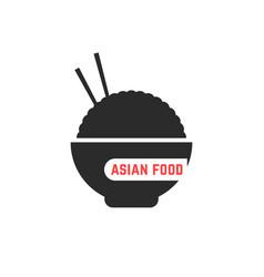 Simple asian food logo vector