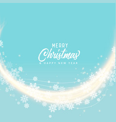 Soft blue snoflakes merry christmas background vector