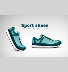 sport shoes realistic composition vector image