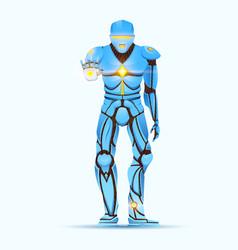 stylish cyborg man humanoid robot with artificial vector image