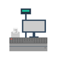 Supermarket store counter desk icon vector