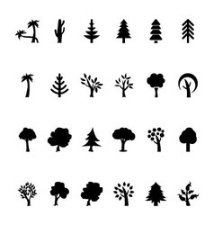 Trees Icons 2 vector