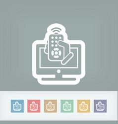 Tv remote controller vector