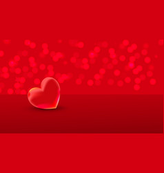 valentines day red sweet heart and place for text vector image