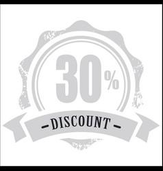Vintage discount banner image vector