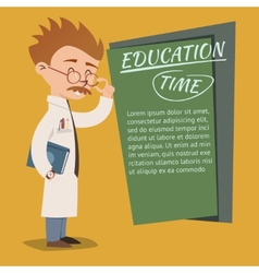 Vintage style Education Time poster design vector