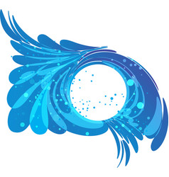 Water frame splashes of flow in a circle vector