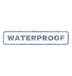 Waterproof textile stamp vector