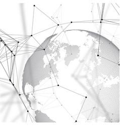 world globe on white background global network vector image