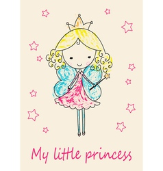 Fairy Tale Princess greeting card vector image vector image