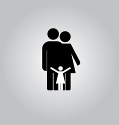 family icon in trendy vector image