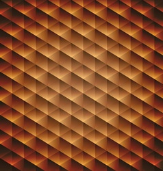 Gold gradient geometric cubic background vector image vector image