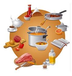 meals vector image vector image