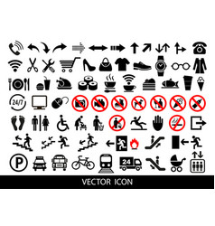 public icons advertising and marketing icons vector image