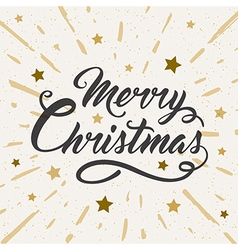Vintage Christmas background with greeting inscrip vector image