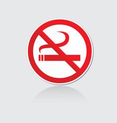 Banner no smoking vector