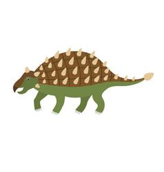 cute cartoon ankylosaurus vector image