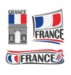 logo for france vector image vector image