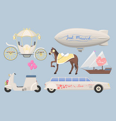 wedding fashion transportation vector image