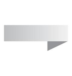 white ribbon banner banner on white background vector image
