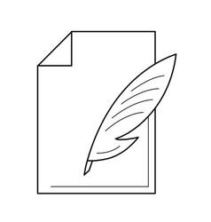 write document line icon vector image