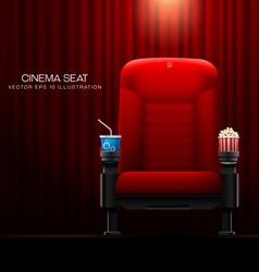 cinema seat vector image vector image