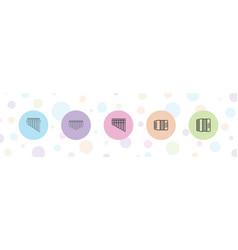 5 harmonica icons vector