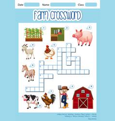 A farm crossword concept vector