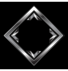 Abstract metallic square shape vector
