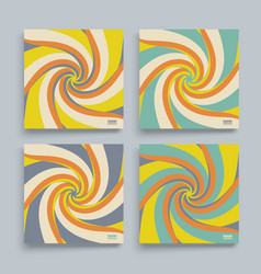 abstract swirl background cover design template vector image