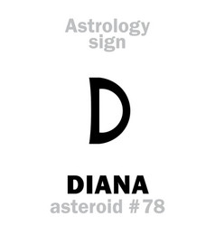 Astrology asteroid diana vector