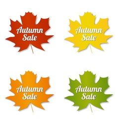 Autumn sale labels vector image