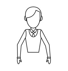 avatar male people outline vector image