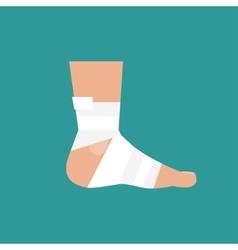 Bandaged leg vector image