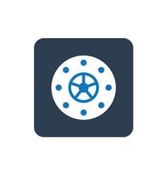 Bank vault icon vector