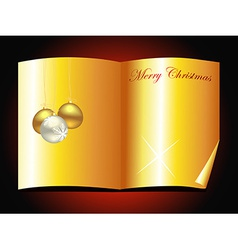 beautiful golden christmas book design vector image