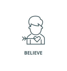 believe line icon believe outline sign vector image