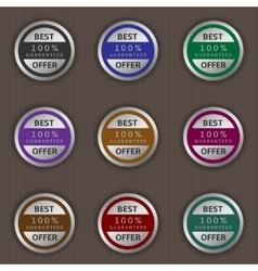 Best offer labels vector