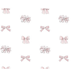 Bow tiled pattern bride team bow icons holiday vector