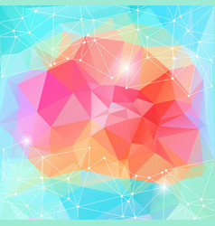 bright polygonal motion energy background vector image vector image