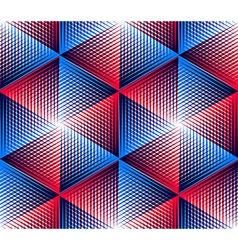 Bright symmetric seamless pattern with interweave vector image