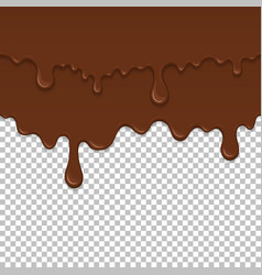 Brown sticky liquid seamless element vector