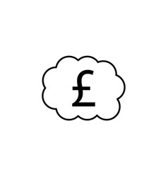 bubble pound icon element of finance signs and vector image