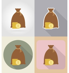 business and finance flat icons 03 vector image