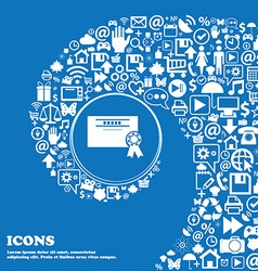 Certificate icon Nice set of beautiful icons vector