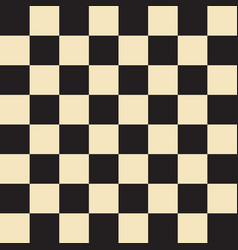 Chess field in black and beige colors vector
