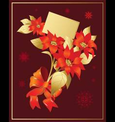 Christmas poinsettia vector image