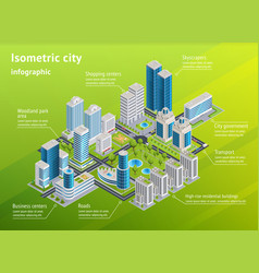 city infrastructure isometric infographics vector image