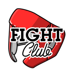 color vintage fight club emblem vector image