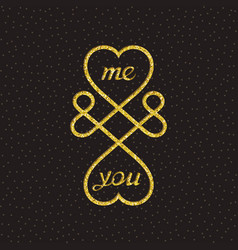 conceptual symbol of infinite love vector image
